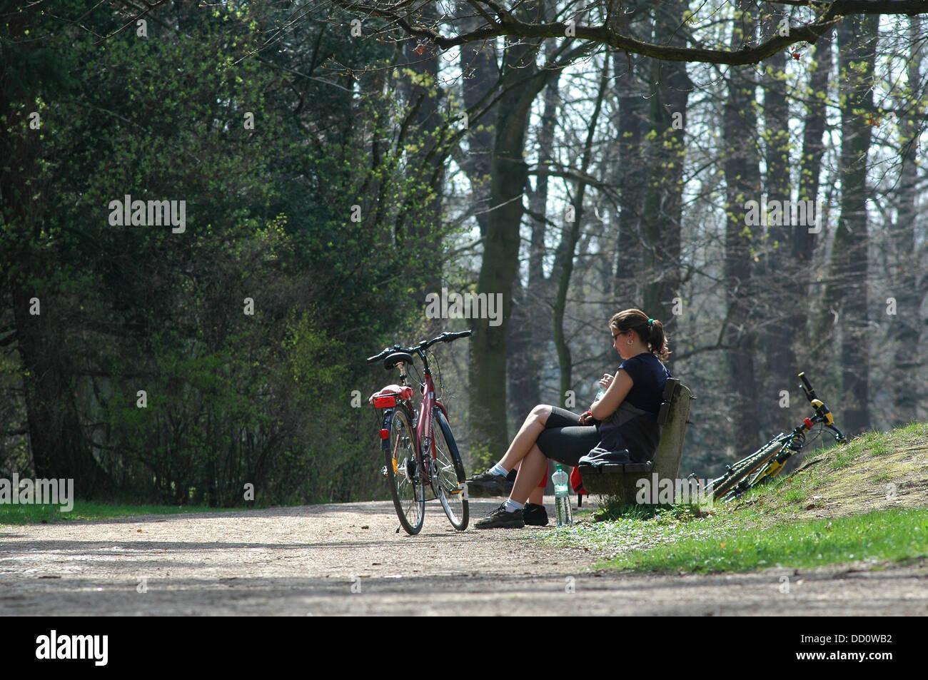 Outdoor relaxation Cesky Raj region Czech - Stock Image