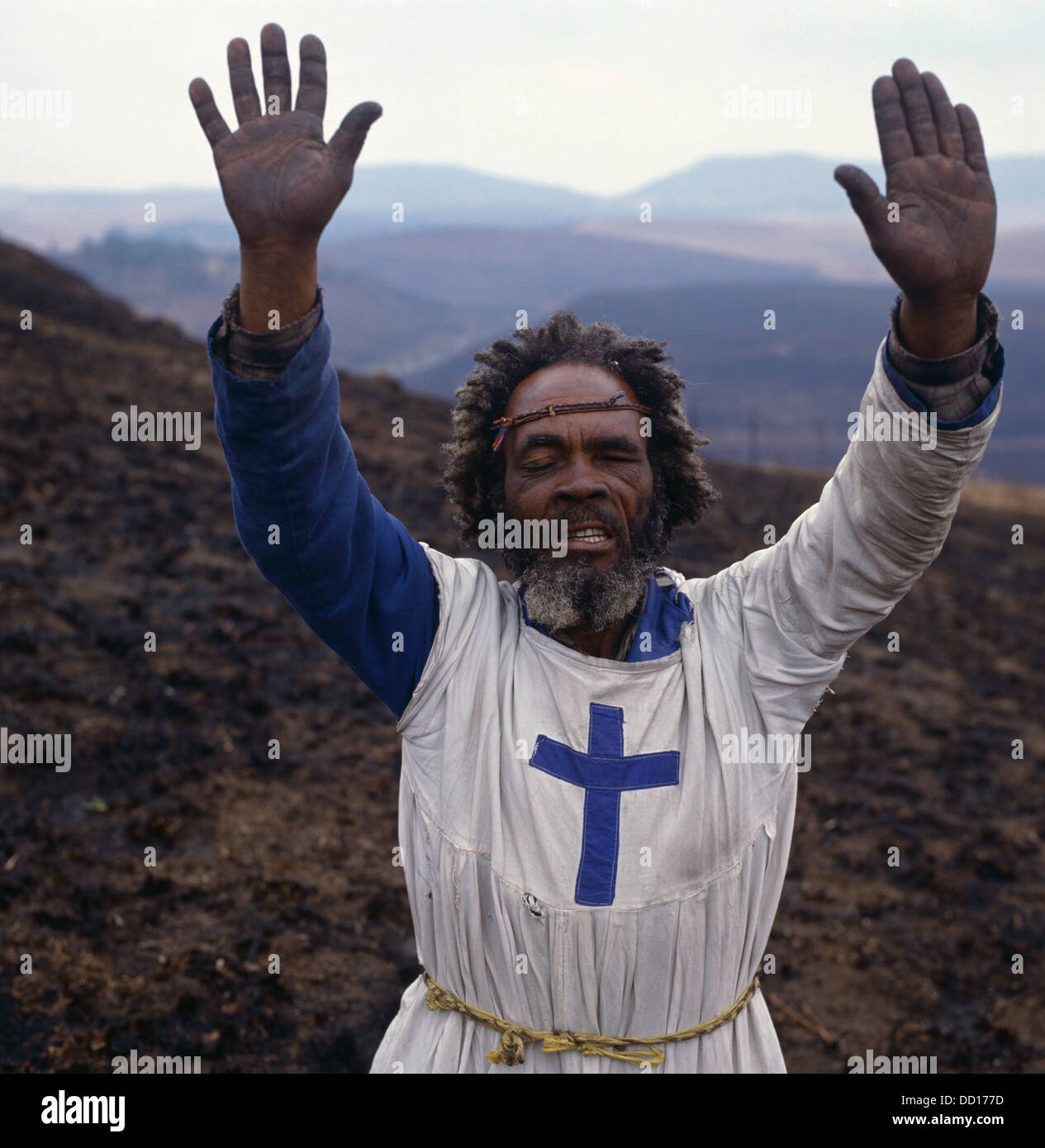 Zionist priest, South Africa - Stock Image