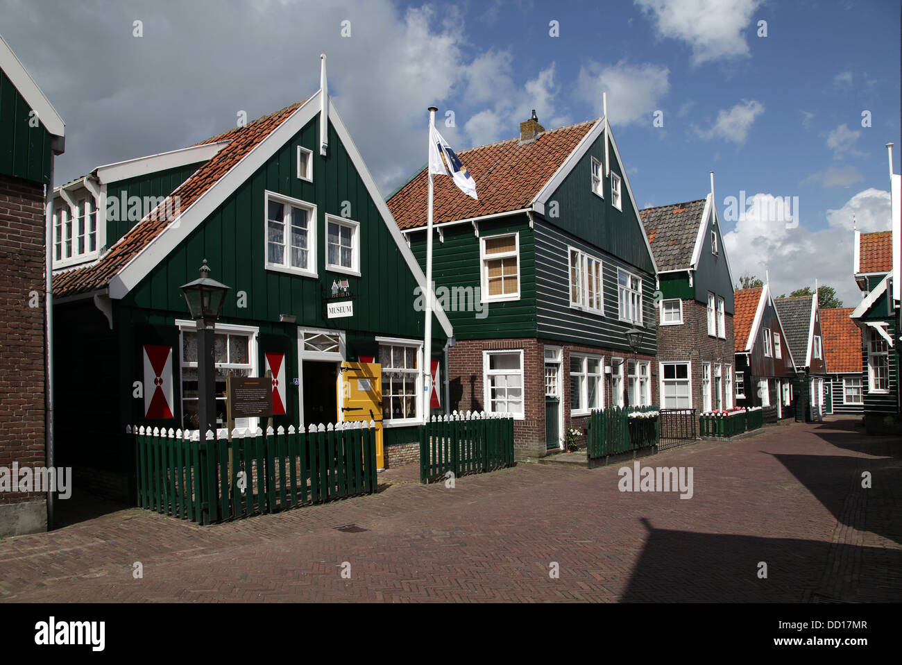 Tourist Fishing village Marken.Holland.Netherlands. - Stock Image