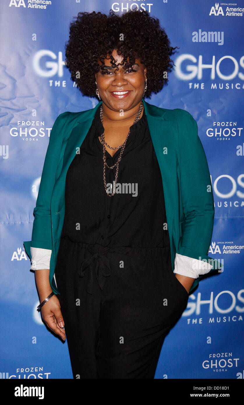 Davine joy randolph attending a meet and greet with the cast and davine joy randolph attending a meet and greet with the cast and creative team of ghost the musical held at the lunt fontanne theatre new york city m4hsunfo