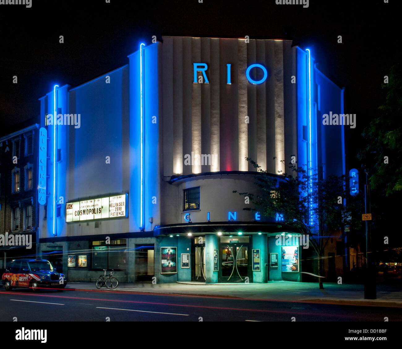 Rio Cinema, London, United Kingdom. Architect: Burrell Foley Fischer LLP + F E Bromige, 1937. Stock Photo