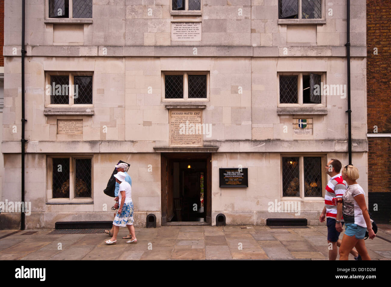 The Richard Watts Six Poor Travellers Charity House Rochester High Street UK - Stock Image