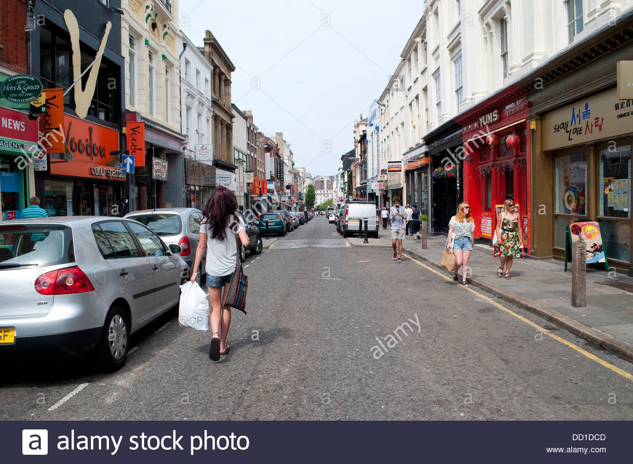 Trendy Bold Street, Liverpool, UK - Stock Image