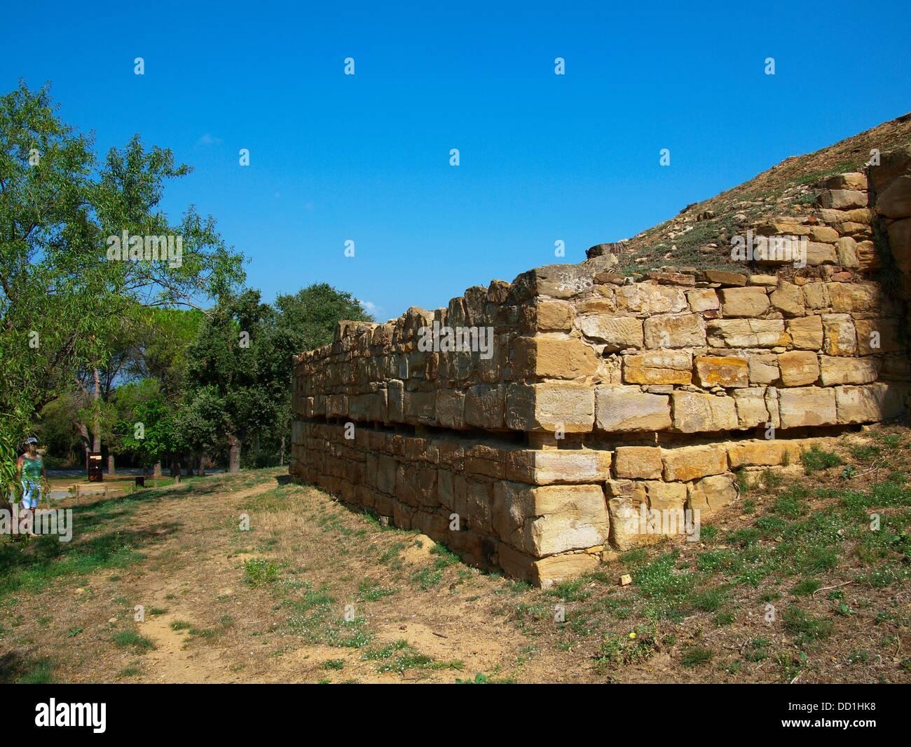 Ullastret Iberian Archeologycal Site Bronze Era Catalunya Spain