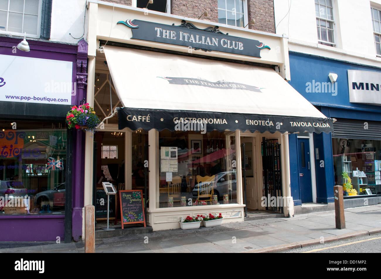 Italian Club cafe, Trendy Bold Street, Liverpool, UK - Stock Image