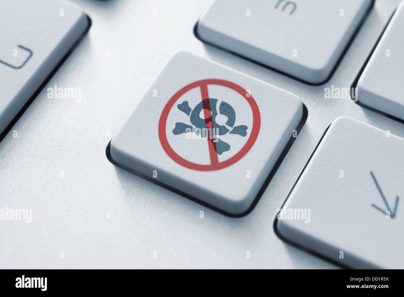 Anti Piracy Key - Stock Image