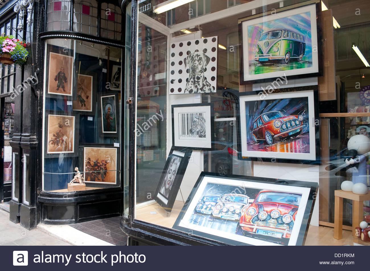 Art shop, Trendy Bold Street, Liverpool, UK - Stock Image