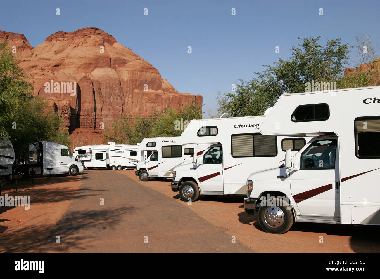 Trailers in the RV Park, Utah, USA - Stock Image