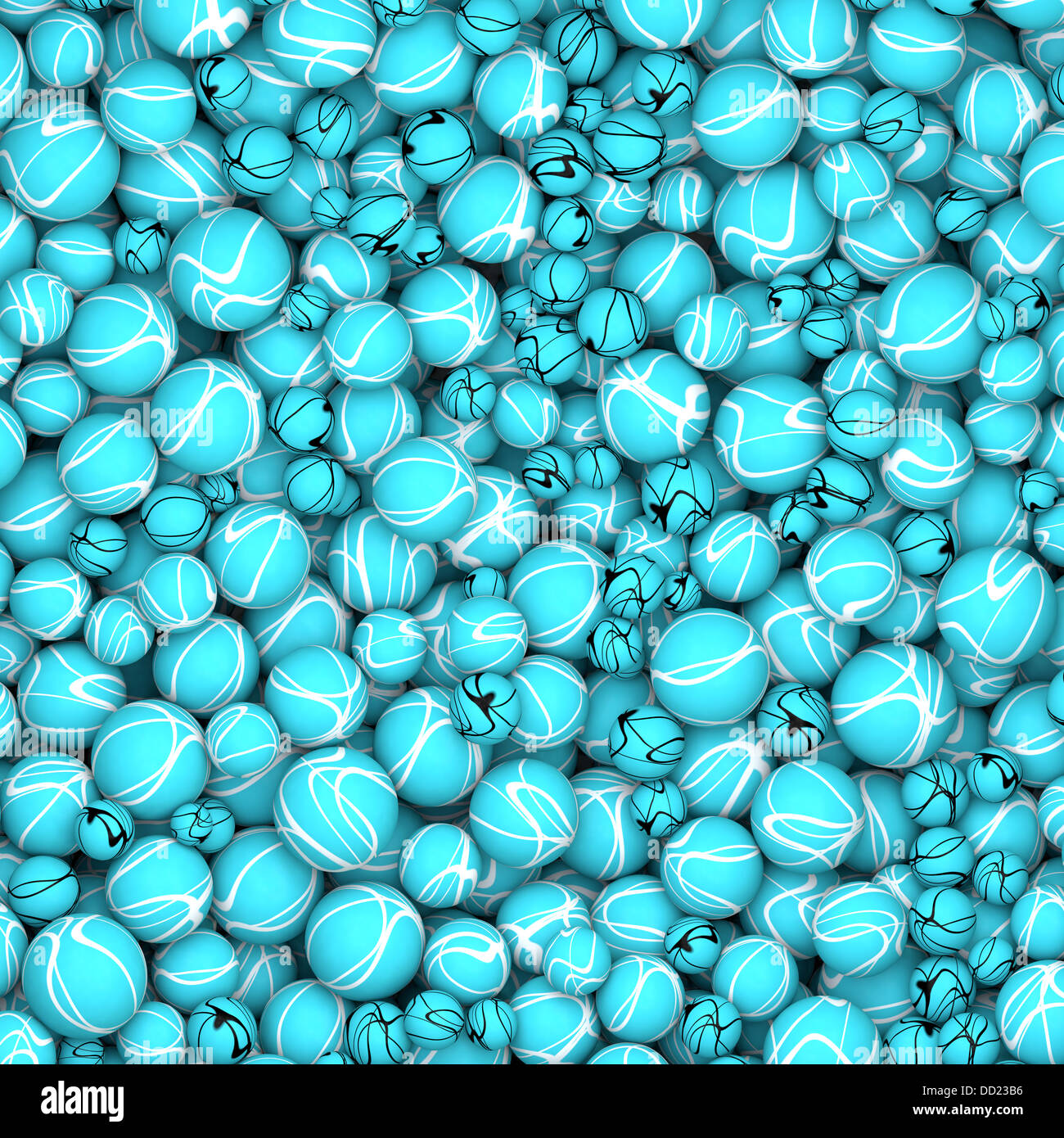 Wallpaper Of Abstract Textured Pearls In Turquoise And White