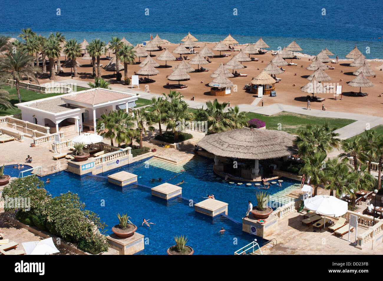 View of a beach at Sharm el-Sheikh, Egypt - Stock Image