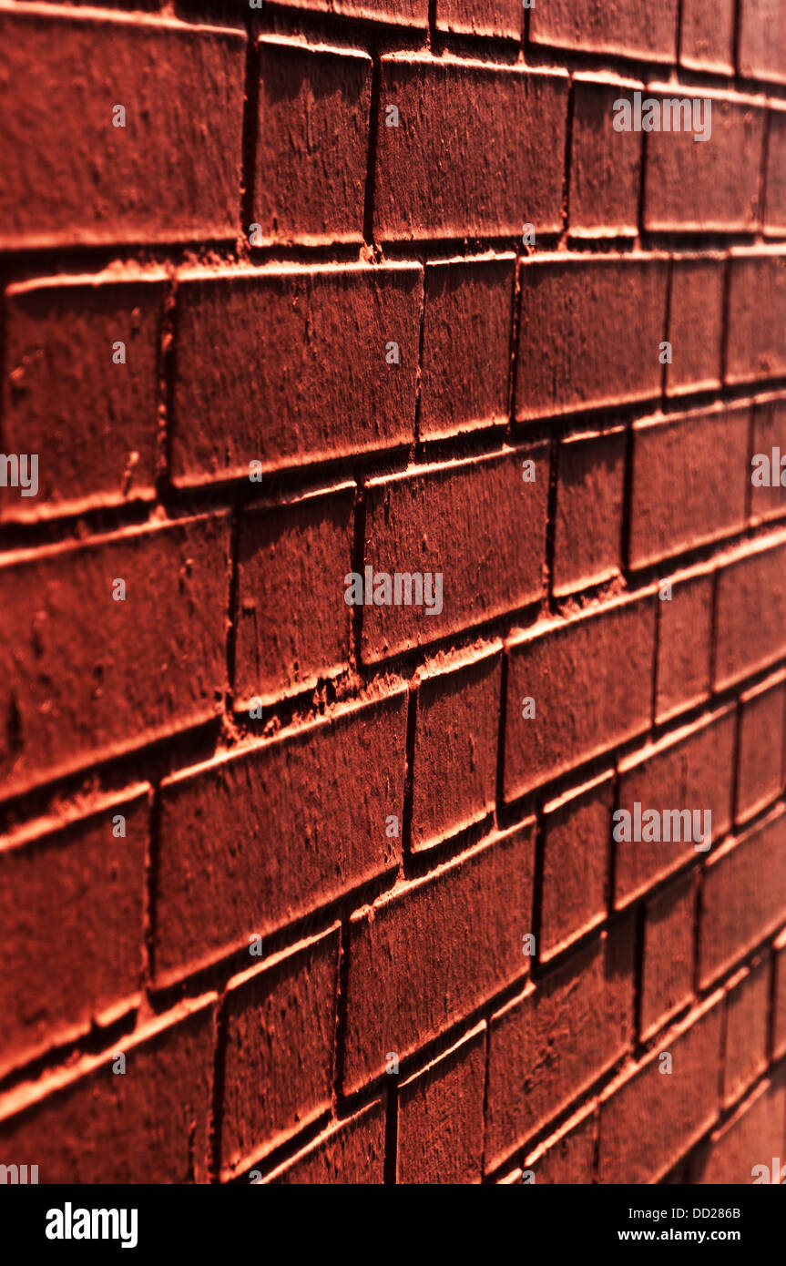 background of wall with red bricks - Stock Image