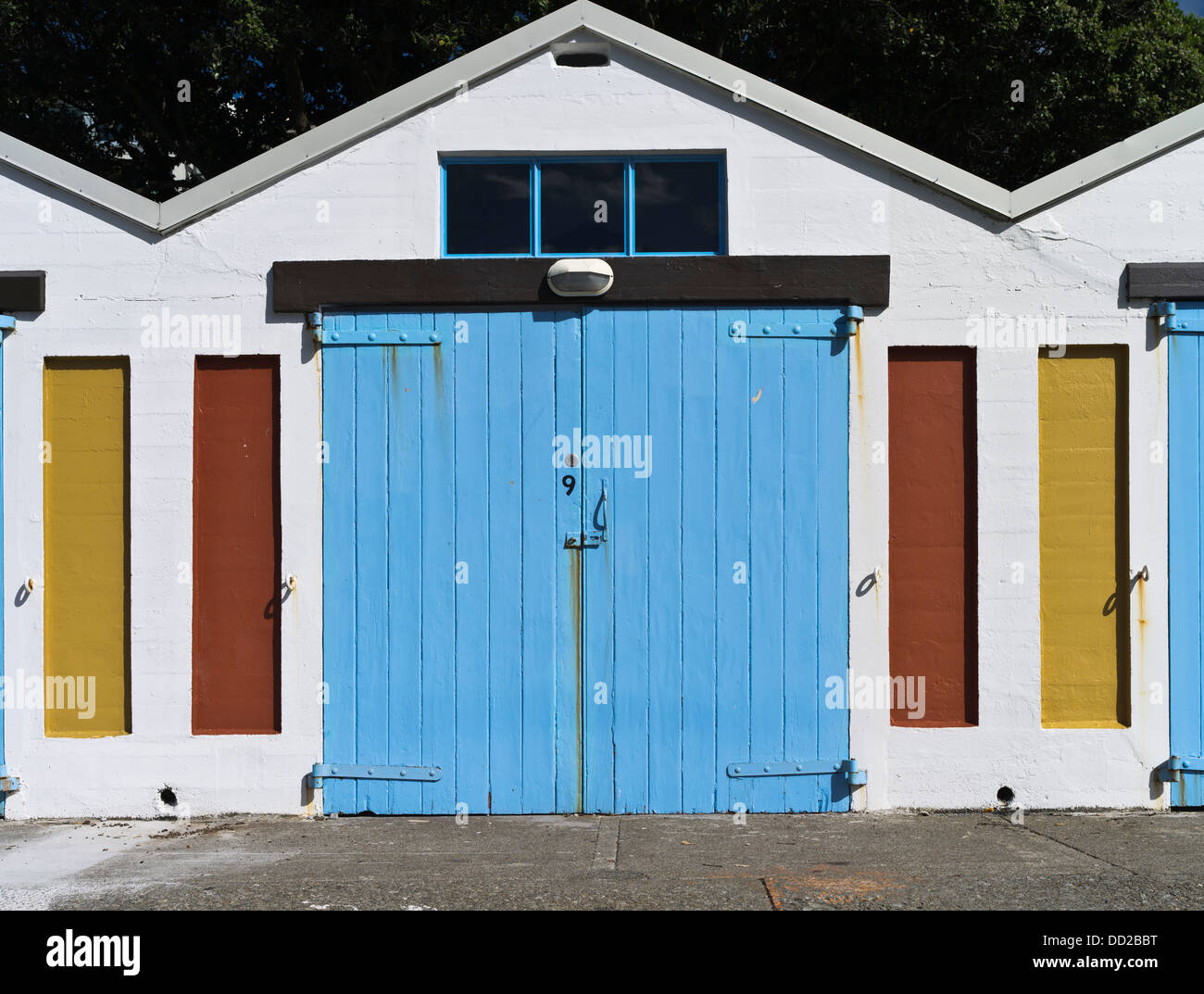 dh Lambton Harbour WELLINGTON NEW ZEALAND Colourful boatshed doors Clyde Quay Marina boat shed & dh Lambton Harbour WELLINGTON NEW ZEALAND Colourful boatshed doors ...