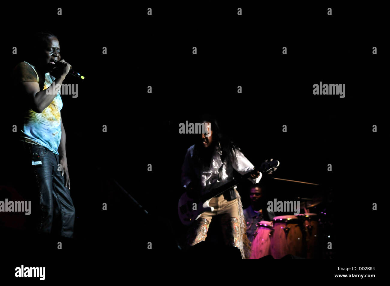 Philip Bailey Earth, Wind & Fire Verdine White American band funk soul jazz rock disco meetick band music 70' - Stock Image