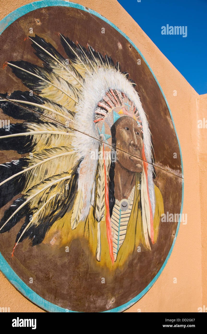 Indian chief portrait headdress - Stock Image