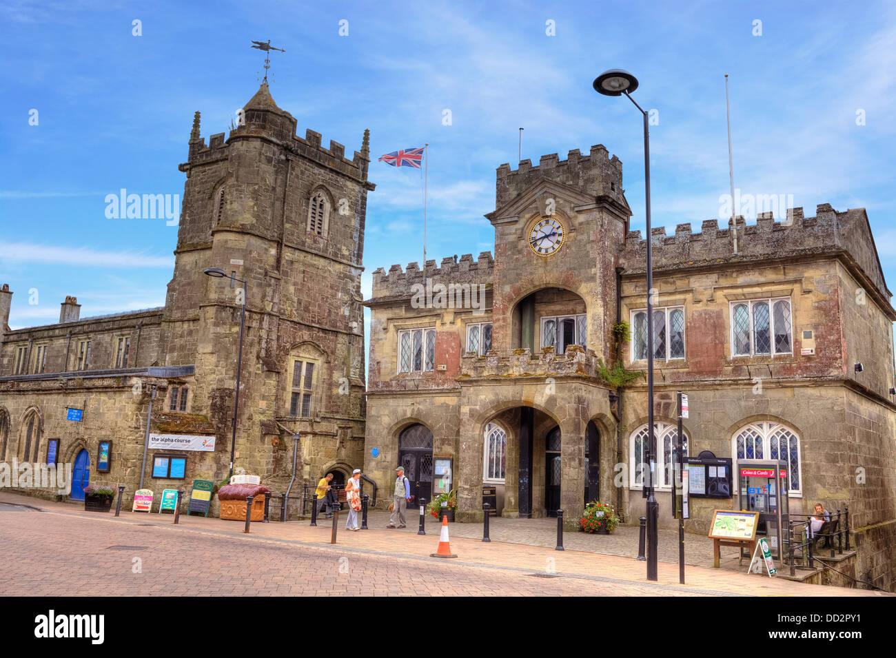 Shaftesbury, St Peter's Church, Dorset, England, United Kingdom - Stock Image