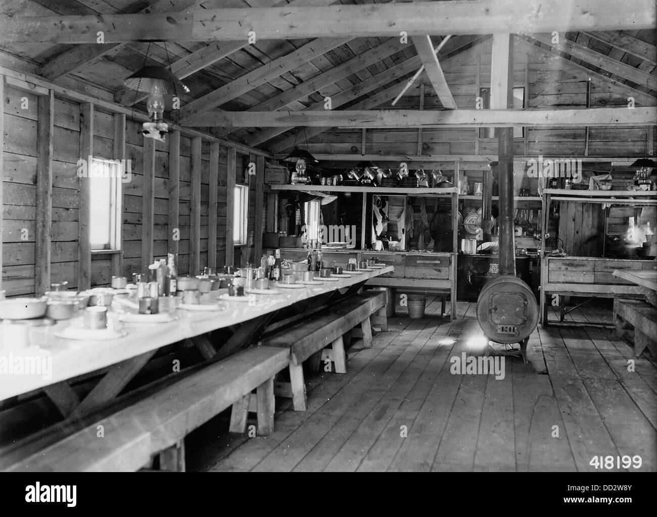 Mess Hall at a Logging Camp - - 2129369 - Stock Image