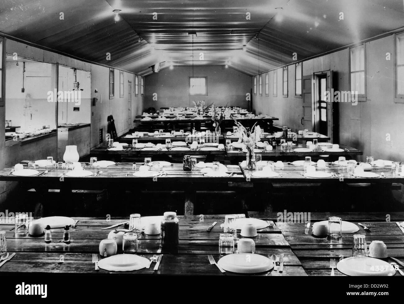 Mess Hall at Camp Manikiwa - - 2129616 - Stock Image