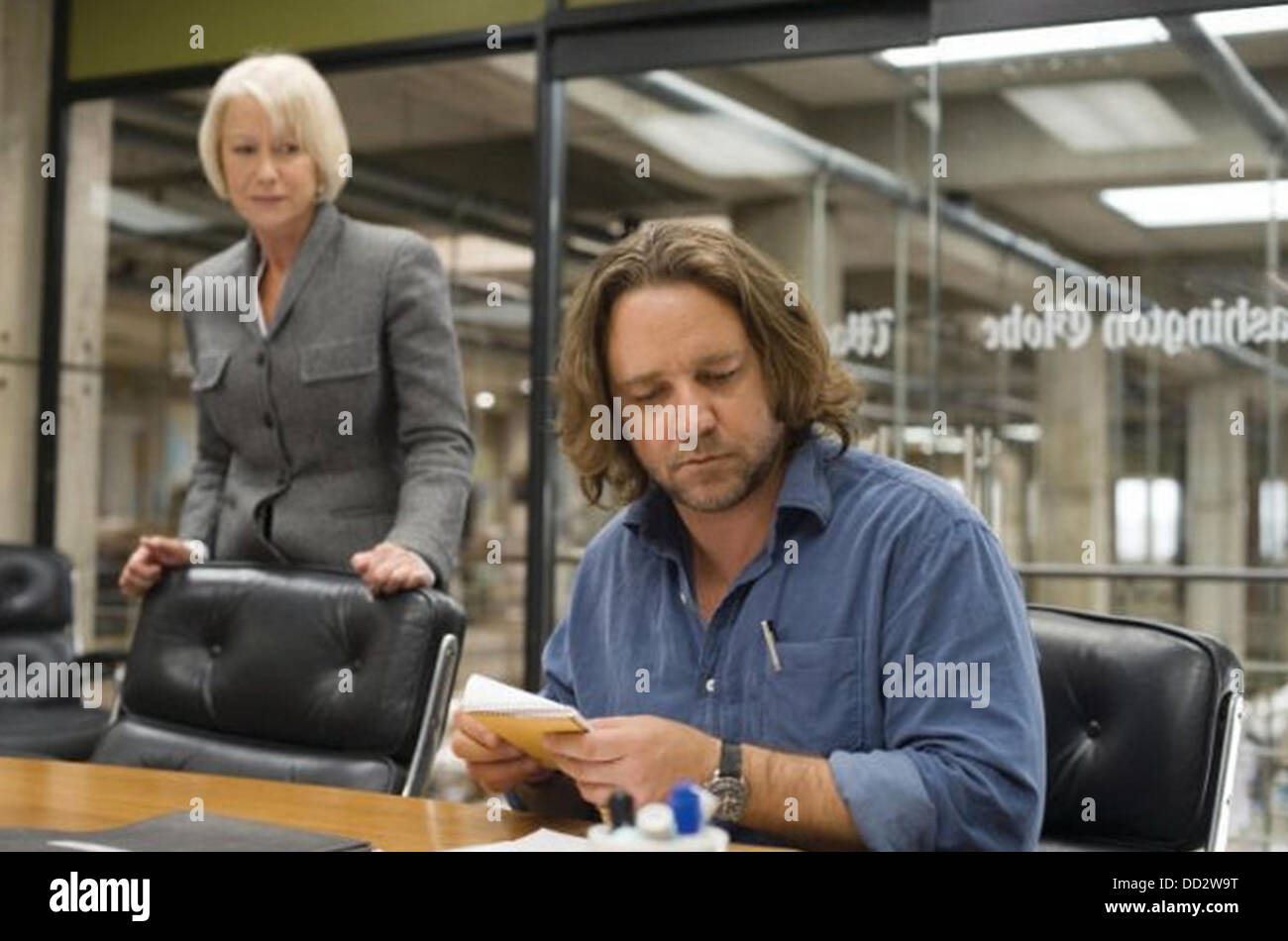 STATE OF PLAY  2009 Universal Pictures/Working Title film with Russell Crowe and Helen Mirren - Stock Image