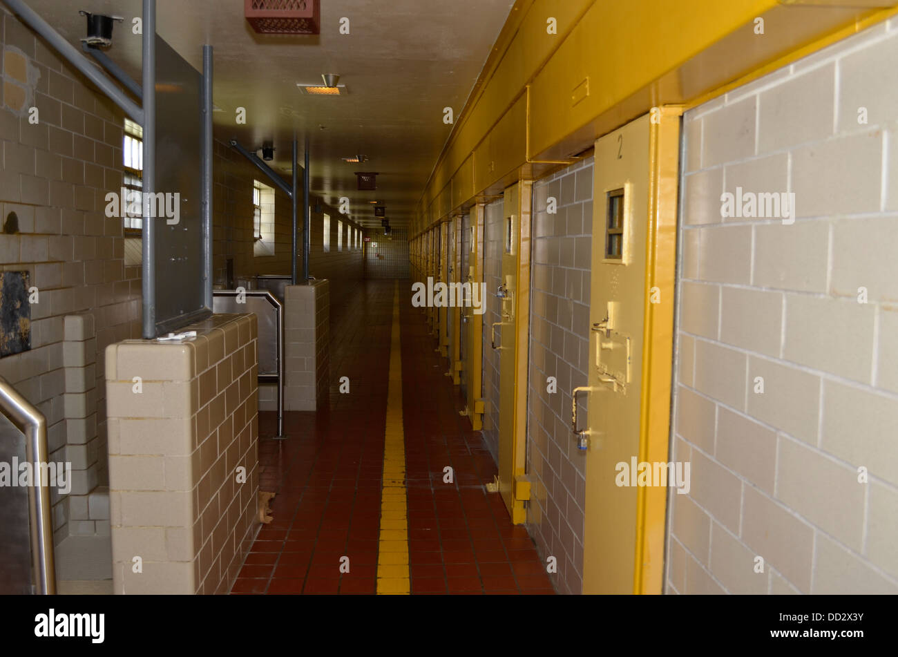 Special Management Unit at the Nebraska State Penitentiary. Inmates are held here on solitary confinement and isolation. - Stock Image