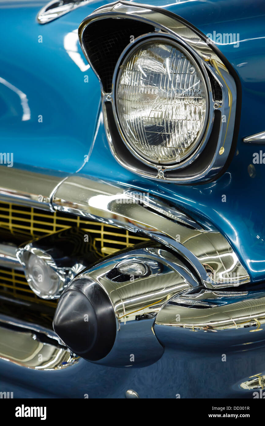 Detail of a vintage car at the Auto collections, Imperial Palace Hotel, Las Vegas - Stock Image