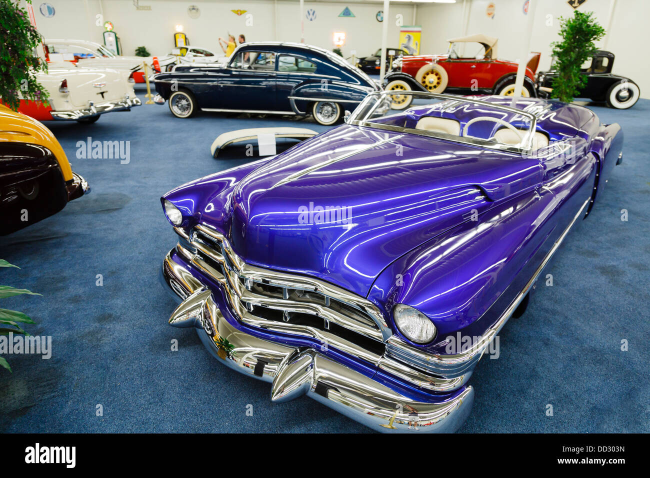 Classic cars at the Auto collections, Imperial Palace Hotel Las Vegas - Stock Image