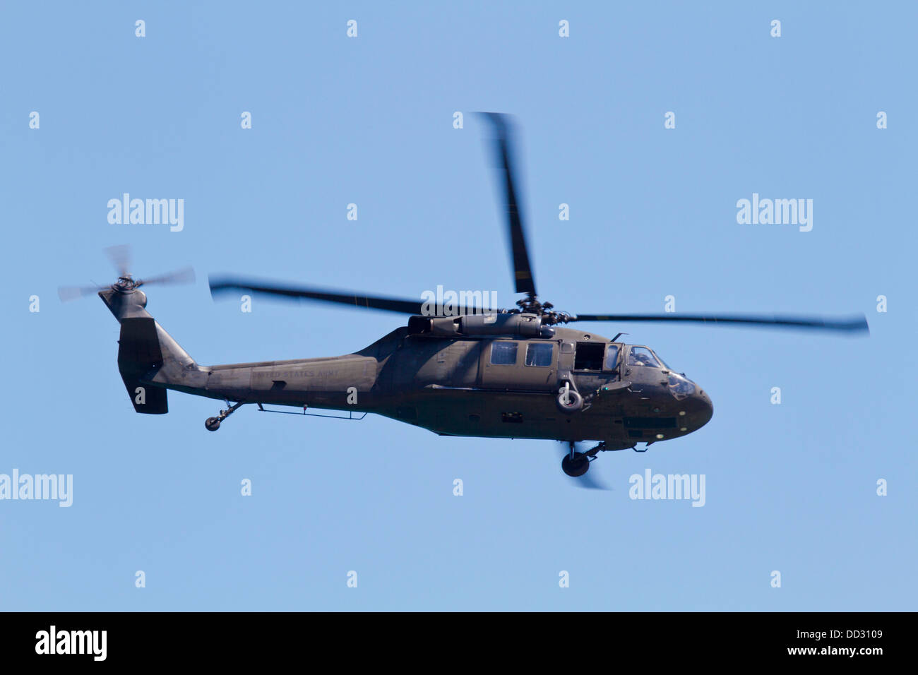 A U.S. army Sikorsky UH-60 Blackhawk helicopter Stock Photo
