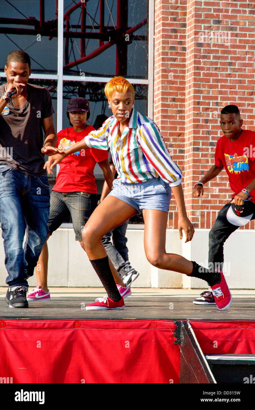 Hip Hop Street performers at Navy pier, Chicago, IL, USA Stock Photo