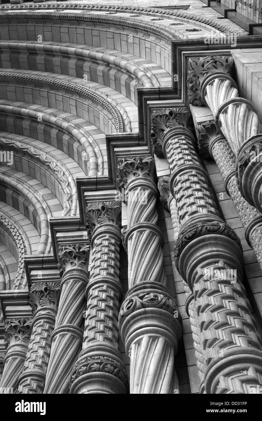 NAtural History Museum London main entrance - Stock Image
