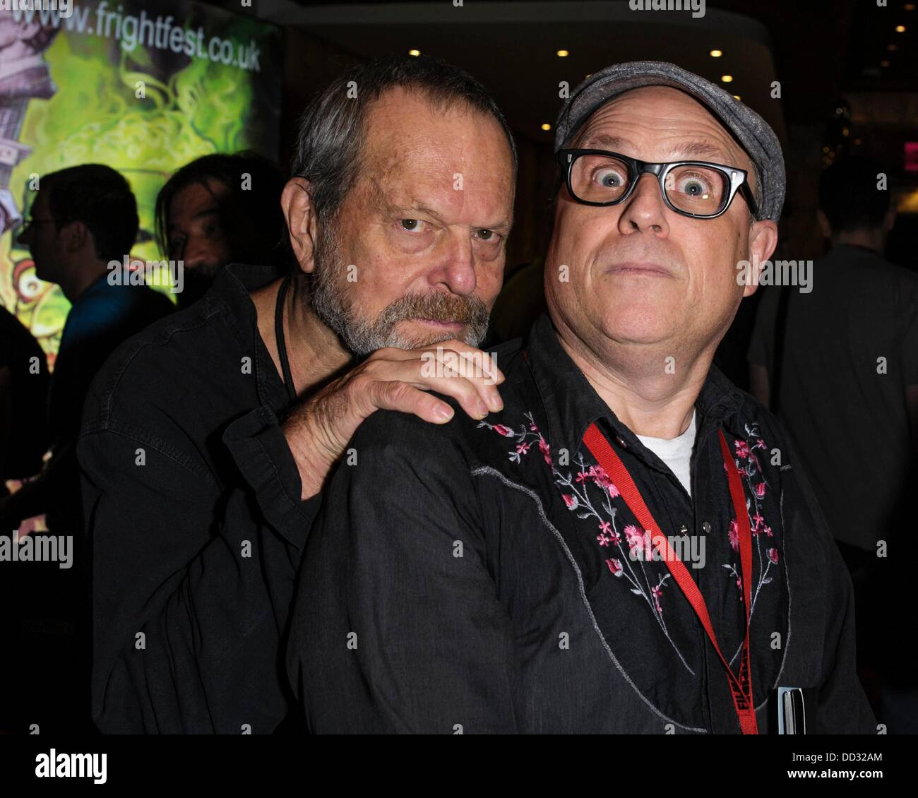 Terry Gilliam and 'Bobcat' Goldthwait   attends The 14th Frightfest Film Festival on Sat 24 August 2013 - Stock Image