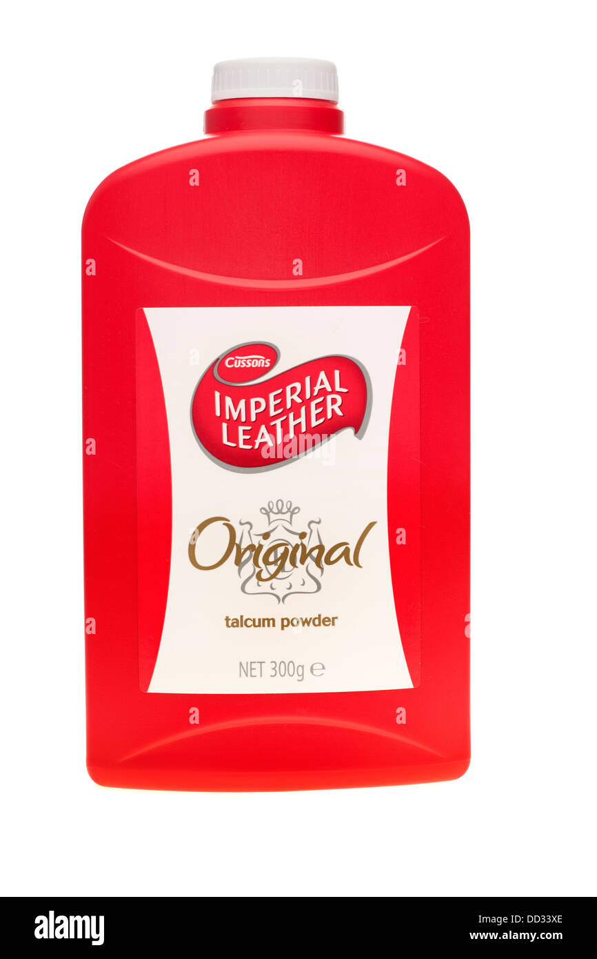 Container of Cussons Imperial Leather original talcum powder - Stock Image