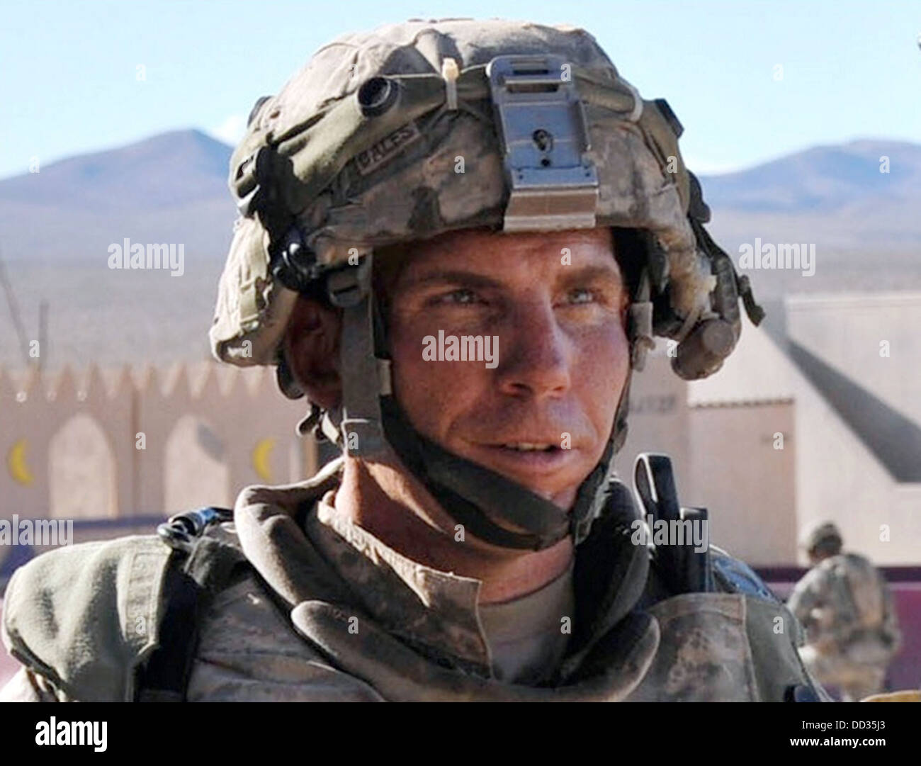 ROBERT BALES US soldier who killed 16 Afghan civilians in Kandahar in March 2012 seen at Fort Irwin Training Centre, - Stock Image