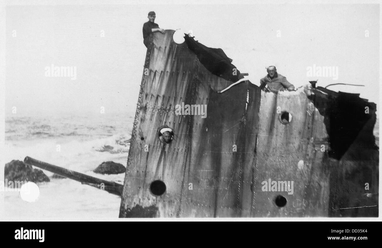 Point Honda Shipwreck Site September 8, 1923, Santa Barbara Co.,  California. U.S.S. Nicholas, 30 Foot Section With...     295451