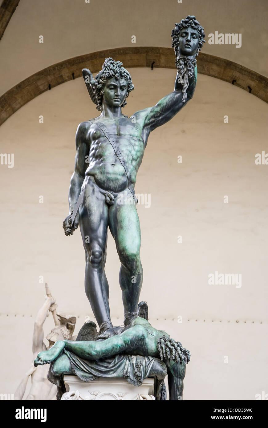 Perseus With Head Of Medusa By Benvenuto Cellini In Loggia