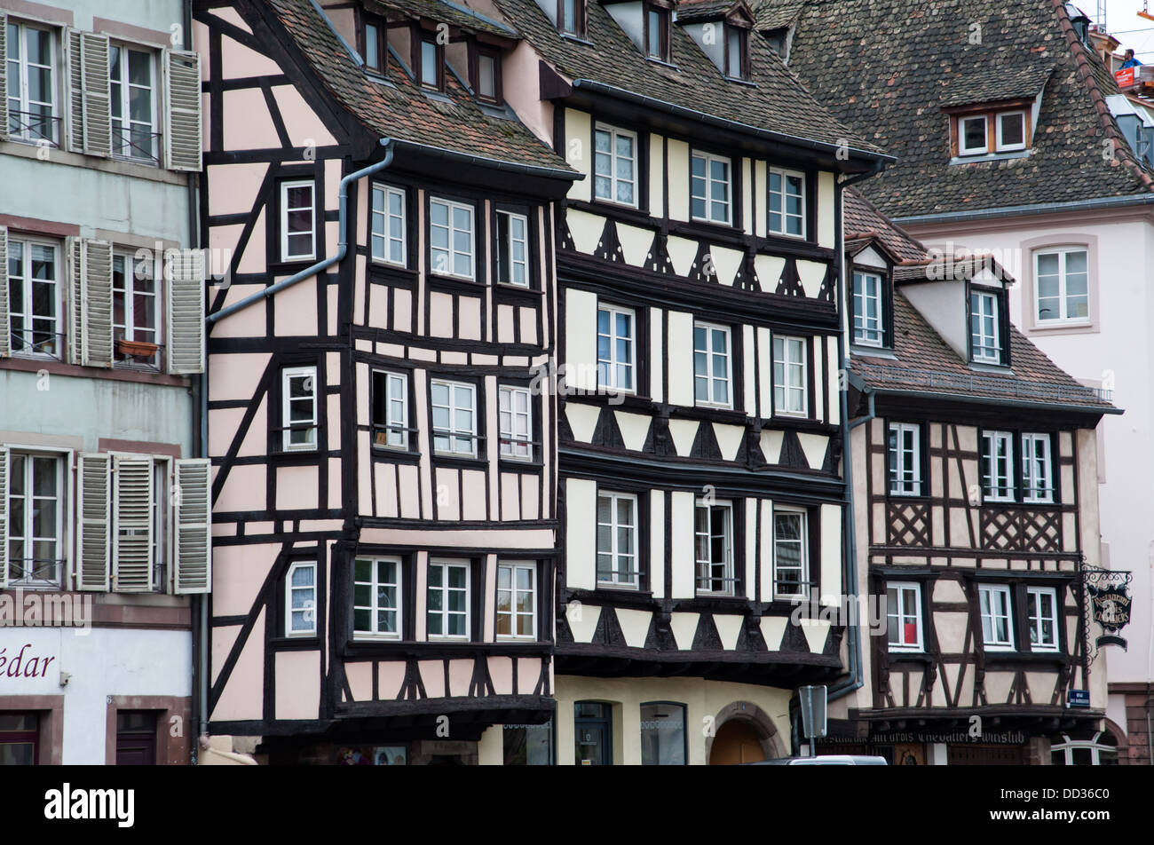 Typical post and beam architecture, Strasbourg, France. - Stock Image