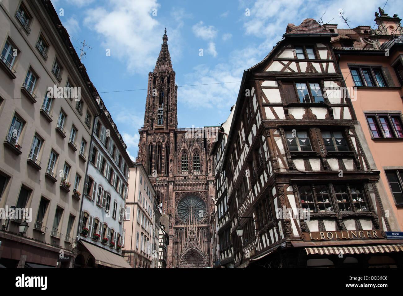 Strasbourg Cathedral, Strasbourg, France. - Stock Image
