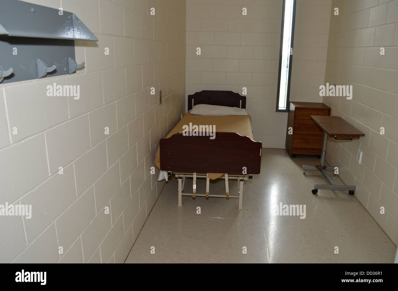 Cell in the hospital/medical unit. Diagnostic & Evaluation Center, Lincoln, Nebraska. - Stock Image