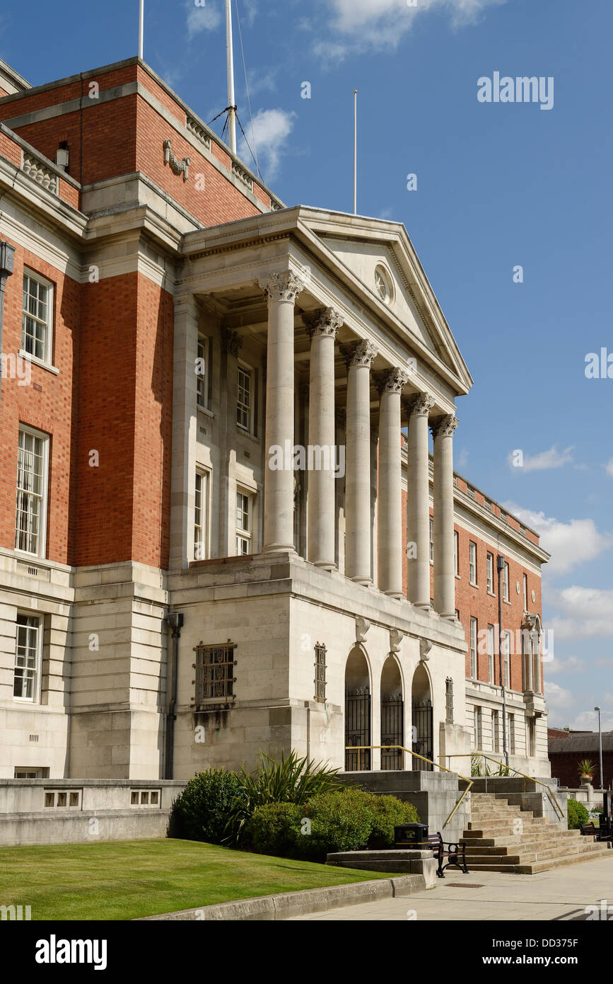 Chesterfield Borough Council Town Hall building facade UK - Stock Image