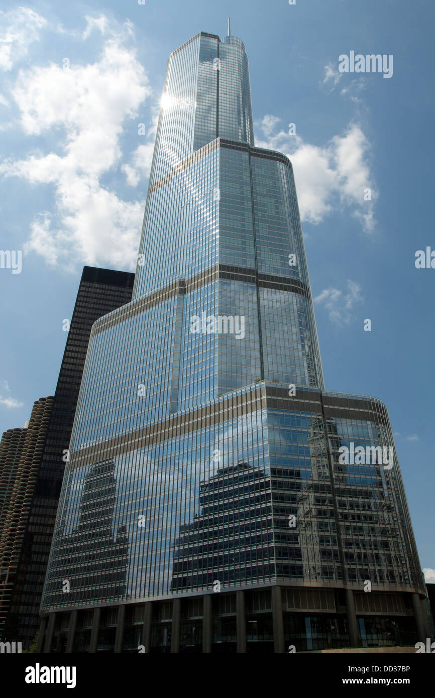 Trump International Hotel and Tower, 92-story structure designed by architect Adrian Smith of Skidmore, Owings and - Stock Image