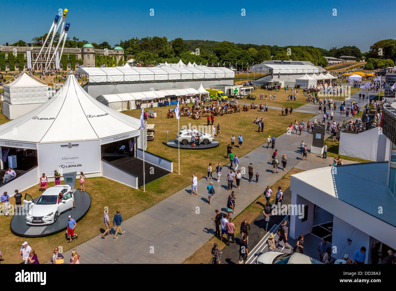 Trade Stands Goodwood Festival Speed : Porsche sculpture stock photos