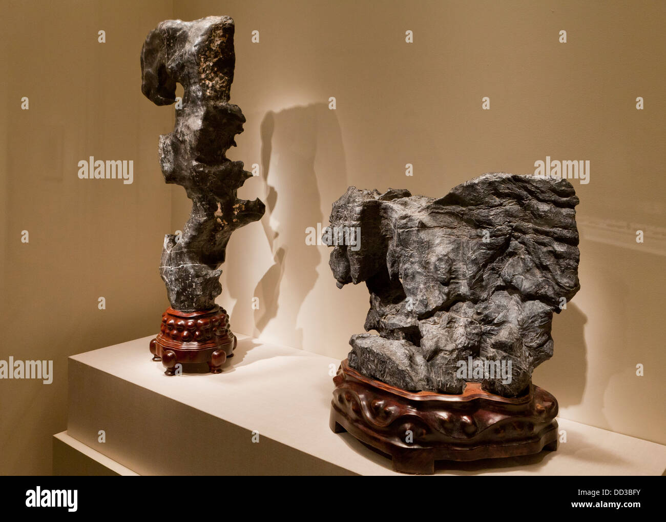 Scholar's Rocks - Qing dynasty, China, 17th century - Stock Image