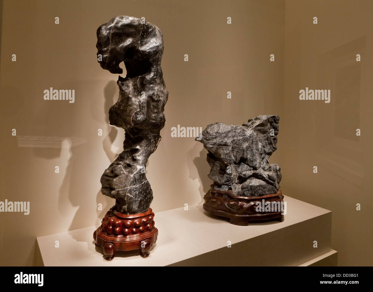 Scholar's Rocks - China, 17th century - Stock Image