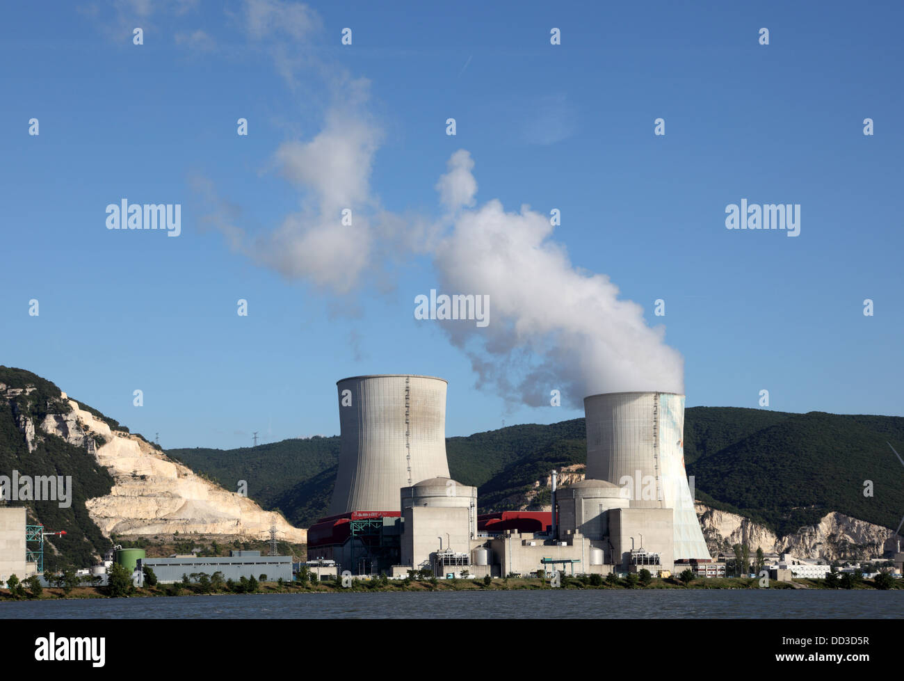 Nuclear electric power generating station - Stock Image