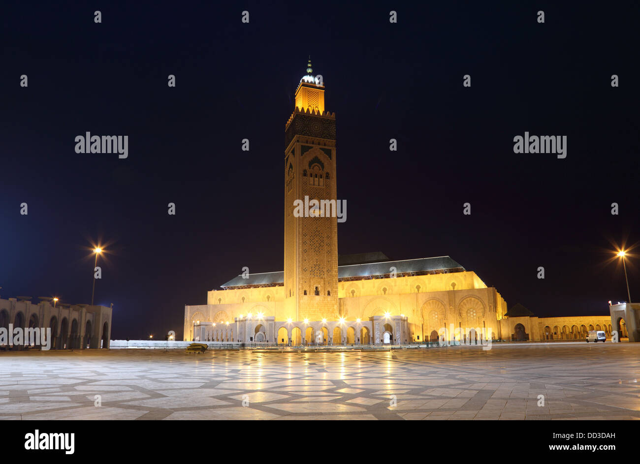 Hassan II Mosque in Casablanca, Morocco, North Africa - Stock Image