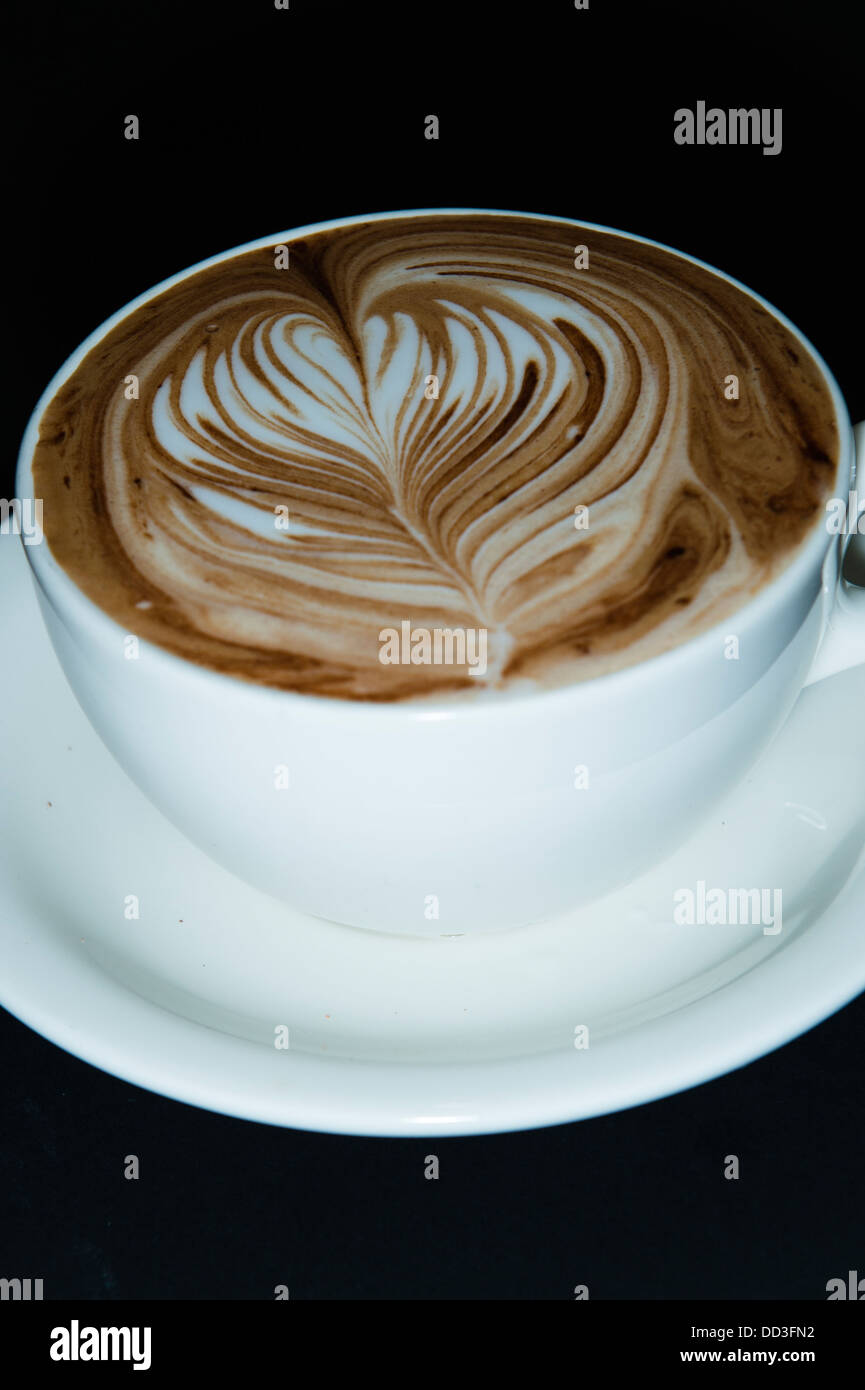 A freshly made cup of Mocha coffee - Stock Image