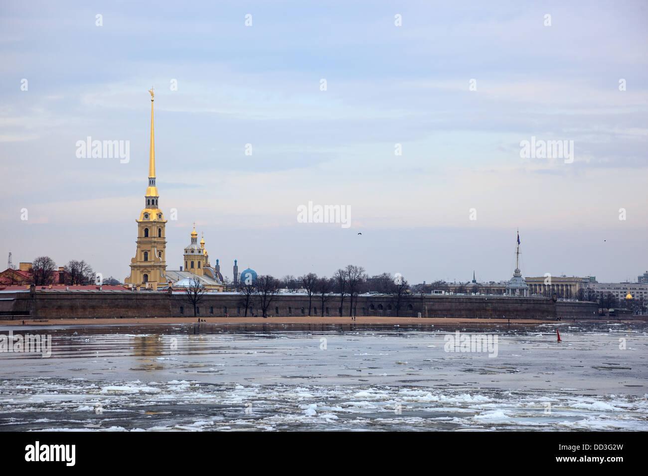Saint Petersburg (Sankt-Peterburg), Russia. The neighborhood of St. Petersburg. Views of the City. Stock Photo