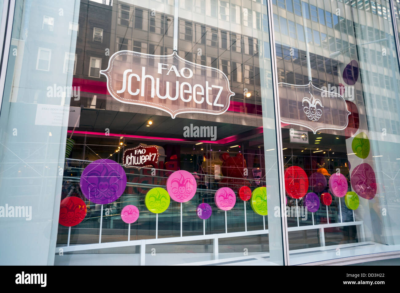 FAO Schwarz flagship store in New York City - Stock Image