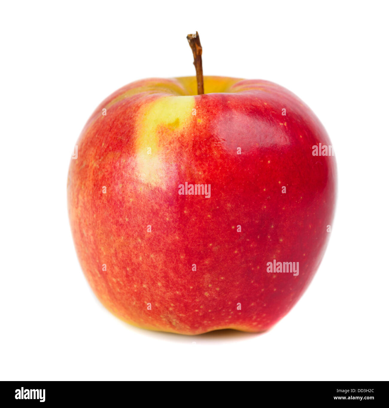 red apple isolated over white Stock Photo