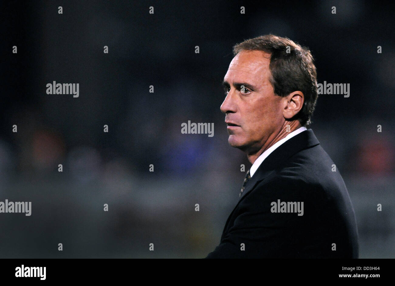 Rochester, NY, USA. 24th Aug, 2013. August 24, 2013: Sky Blue FC head coach Jim Gabarra. The Western New York Flash defeated Sky Blue FC 2-0 in the NWSL semifinal matchup at Sahlen's Stadium in Rochester, NY. Credit:  csm/Alamy Live News Stock Photo