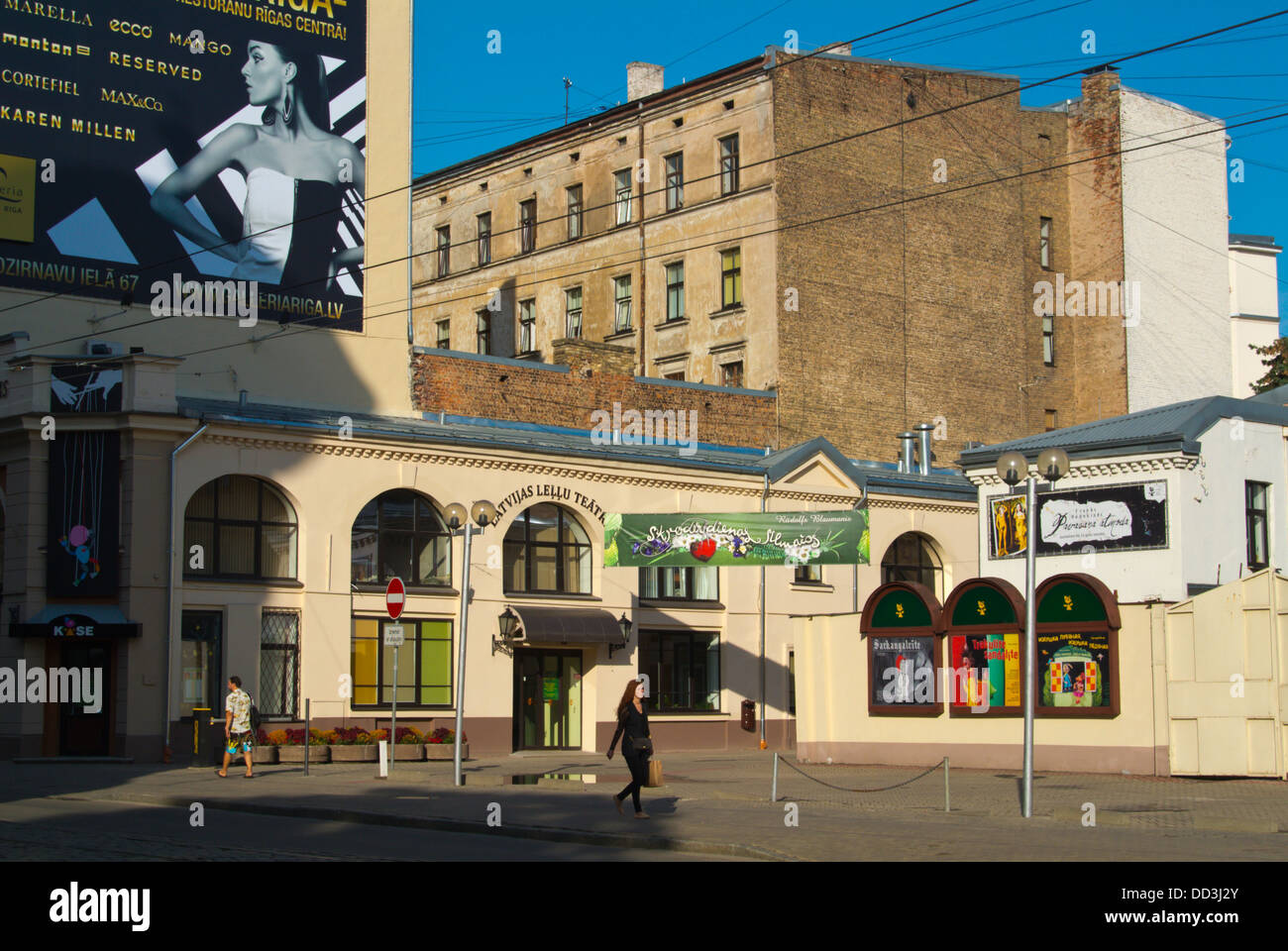 Latvian Puppet Theatre exterior in Art Nouveau district central Riga Latvia the Baltic States northern Europe - Stock Image
