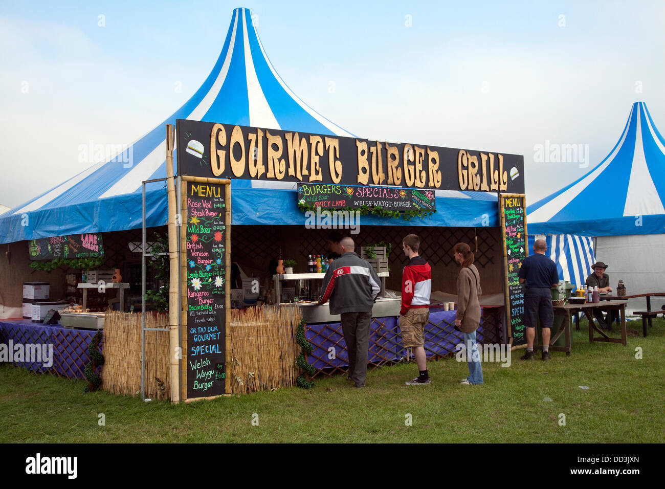 Cheshire Game & Country Fair, UK,  Aug 24 to Aug 26, 2013.  Catering at the 6th Tabley Cheshire Game & Country - Stock Image